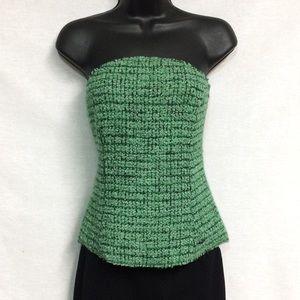 CHANEL Wool/Mohair Blend Corset Top